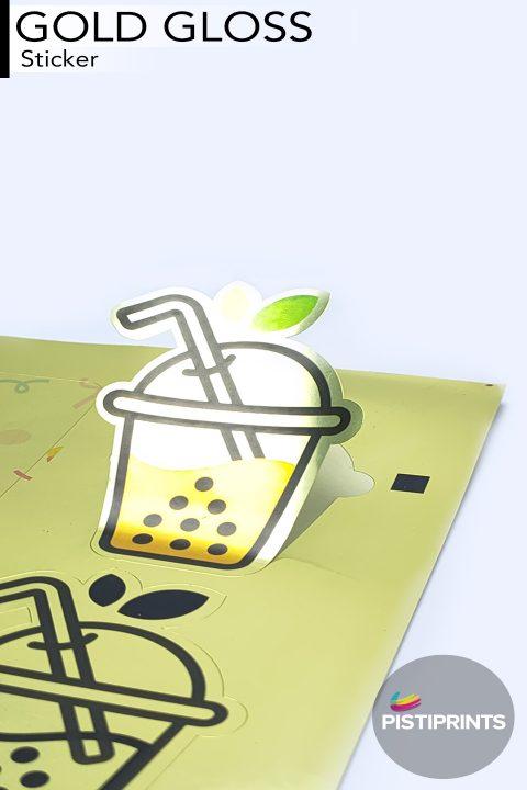 Gold Gloss Sticker