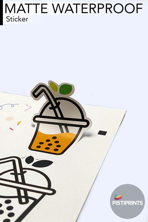 Matte Water Sticker